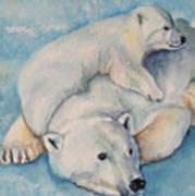 Frosty Baby Art Print