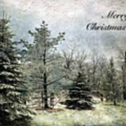 Frosty Christmas Card Art Print