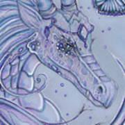 Frosty Dragon Art Print