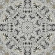 Frosty Lace Doily Art Print