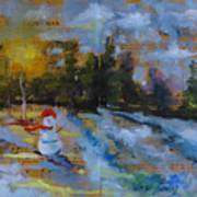 Frosty The Snow Man Art Print