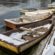Frozen Boats Art Print