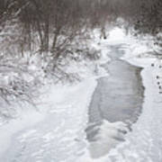 Frozen Brook Art Print