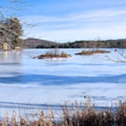 Frozen Bryant Pond Art Print