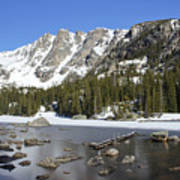 Frozen Colorado Lake Art Print