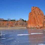Frozen Lake Front Art Print