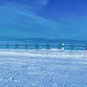 Frozen Lake Michgan At Grand Haven Art Print