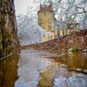 Frozen Moat At Fonthill Art Print