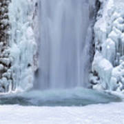 Frozen Multnomah Falls Closeup Art Print