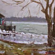 Frozen Niagara River Art Print