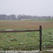 Frozen Rainy Field Art Print by Kevin Croitz