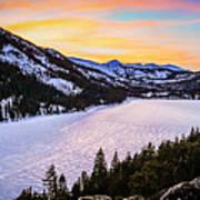 Frozen Reflections At Echo Lake Art Print