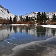 Frozen Sierra Lake Art Print
