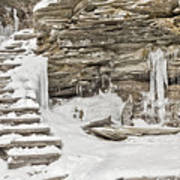 Frozen Stairs Art Print