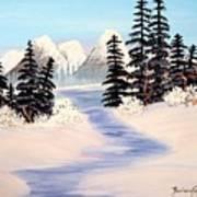 Frozen Tranquility Art Print