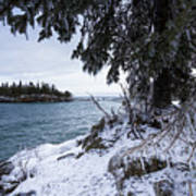 Frozen View Of Ellingson Island Art Print