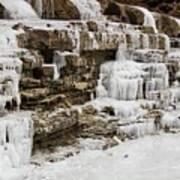 Frozen Waterfall Art Print