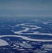 Frozen Yukon River - Alaska  Art Print