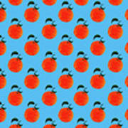 Fruit 01_orange_pattern Art Print