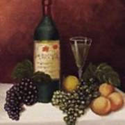 Fruit And Wine  B Art Print by Helen Thomas