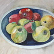 Fruit Bowl For Health Art Print by Janna Columbus