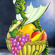 Fruit Dragon Art Print