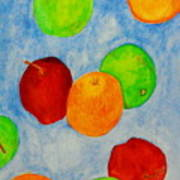 Fruit Drops Art Print