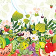 Fruit Garden Art Print