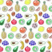 Fruit Pattern  Art Print