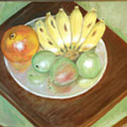 Fruit Plate Art Print