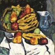 Fruit Still Life By Marsden Hartley Art Print