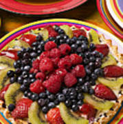 Fruit Tart Pie Art Print