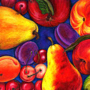 Fruit Tumble Art Print