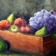 Fruit With Hydrangea Art Print