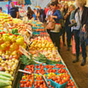 Fruits And Vegetables - Pike Place Market Art Print
