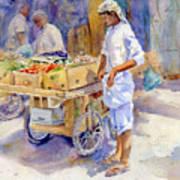 Fruitseller Jeddah Art Print
