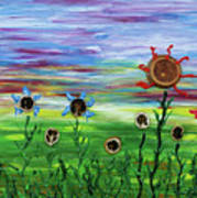 Fruity Flowerfield Art Print