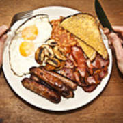 Full English Breakfast Art Print