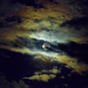 Full Moon And Clouds Art Print