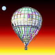 Full Moon Balloon Art Print