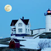 Full Moon Nubble Art Print