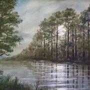 Full Moon On The River Art Print