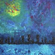 Full Moon Over Watercity Art Print