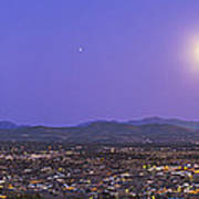 Full Moon Rising Over Silver City, New Art Print