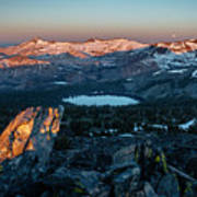 Full Moon Set Over Desolation Wilderness Art Print
