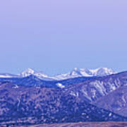 Full Moon Setting Over The Colorado Rocky Mountains Art Print