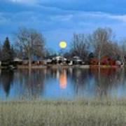 Full Moon Silver Lake Art Print