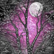Full Moon Watching Art Print