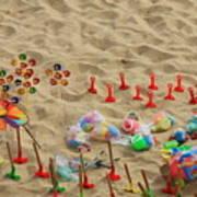 Fun At The Beach Art Print