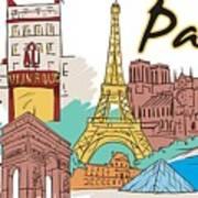 Fun Food And Folly In Paris Art Print